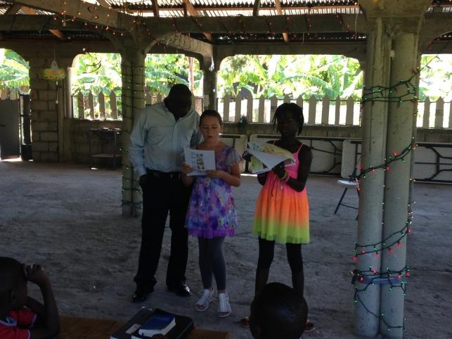 Mikela teaching Children's Church