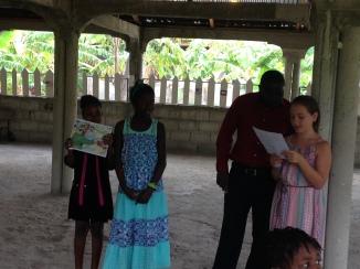 Malaya teaching Children's Church
