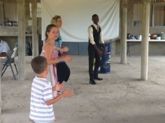 Diane teaching country line dancing